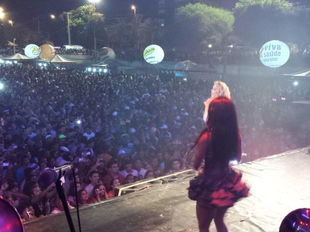 Banda Calypso agitou o público (Foto: Luana Bernardes/TV Grande Rio)