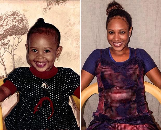 O antes x depois de Vanessa Borges, do time Brown (Foto: Divulgação)