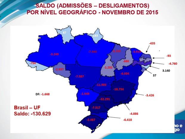 São Paulo, Minas Gerais e Goiás foram os estados que mais fecharam vagas em novembro. (Foto: Divulgação/Ministério do Trabalho)