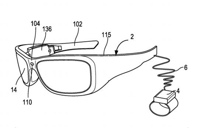 Óculos inteligentes da Microsoft teriam a capacidade de reconhecer objetos e exibir alertas (Foto: Divulgação/Patentscope)
