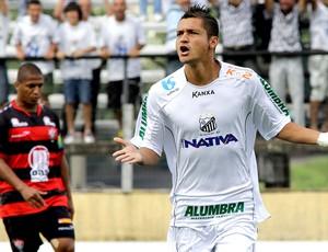 Diego Macedo comemora gol do Bragantino contra o Vitória (Foto: Luis Moura / Ag. Estado)