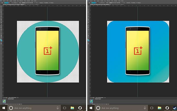 Usuário pode personalizar o ícone com planos de fundos de formas geométricas (Foto: Reprodução/Elson de Souza)
