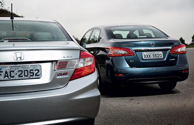 Honda Civic vs Nissan Sentra (Foto: Fabio Aro)