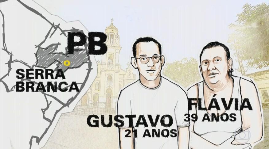 Ônibus que leva Gustavo e Flávio faz percurso diário de 45 minutos (Foto: Reprodução)