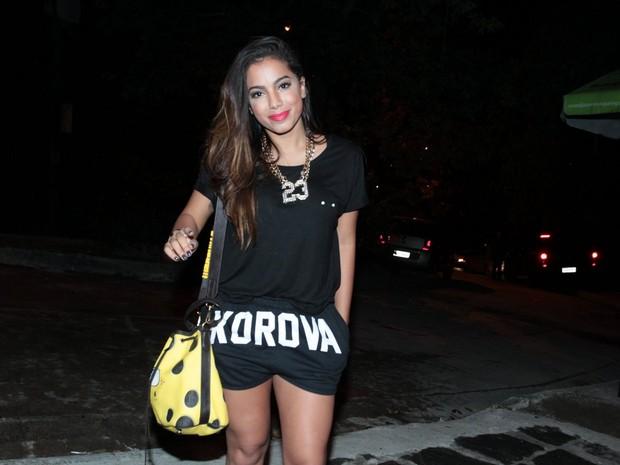 Anitta em festa na Zona Sul do Rio (Foto: Marcello Sá Barretto/ Ag. News)
