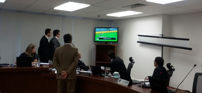 Julgamento do Cruzeiro no STJD pelo repasse de ingressos na Copa do Brasil (Foto: Daniela Lameira/ STJD)