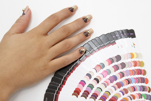 Tutorial unhas - Unhas com spike (Foto: Jessica Monstans / EGO)
