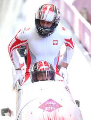 Daniel Zalewski bobsled da Polônia em Sochi (Foto: Getty Images)