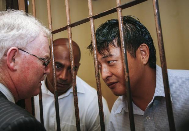 Os australianos Andrew Chan e Myuran Sukumaran. Os dois estão no corredor da morte na Indonésia (Foto: EFE)