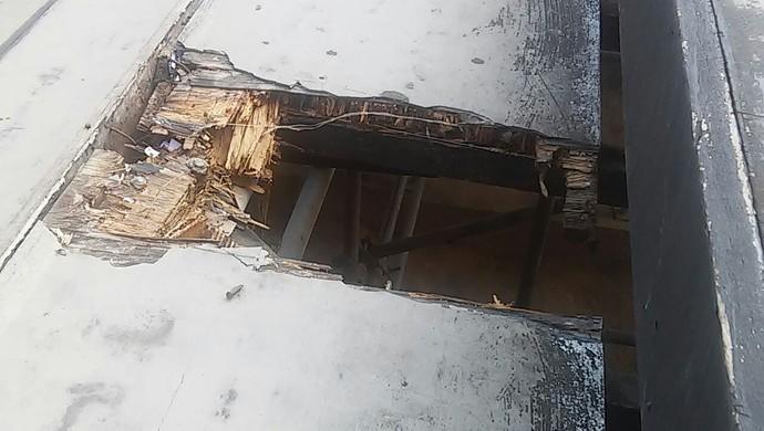 Arquibancadas do Municipal de Arapiraca (Foto: Everton Luiz/Arquivo Pessoal)