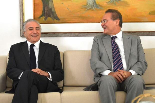 Michel Temer e Renan Calheiros, lado a lado (Foto: Agência Brasil/Divulgação)