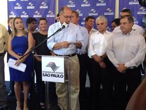 Governador inaugurou sistema nesta sexta-feira (31) (Foto: Pedro Mathias/G1)
