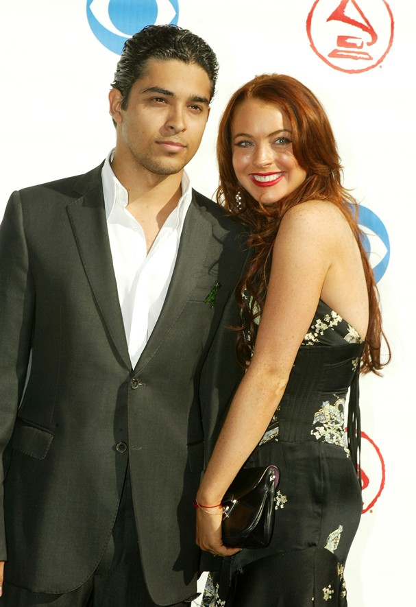 Wilmer Valderrama e Lindsay Lohan em 2004 (Foto: Getty Images)