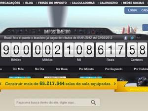 Impostômetro atingiu nesta quinta-feira a marca de R$ 900 bilhões  (Foto: Reprodução)