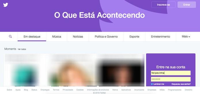 Twitter pode bloquear contas por prevenção (Foto: Reprodução/Felipe Vinha)