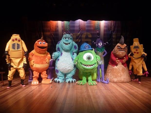 Peça é uma adaptação teatral do filme infantil Monstros S.A. (Foto: Divulgação)