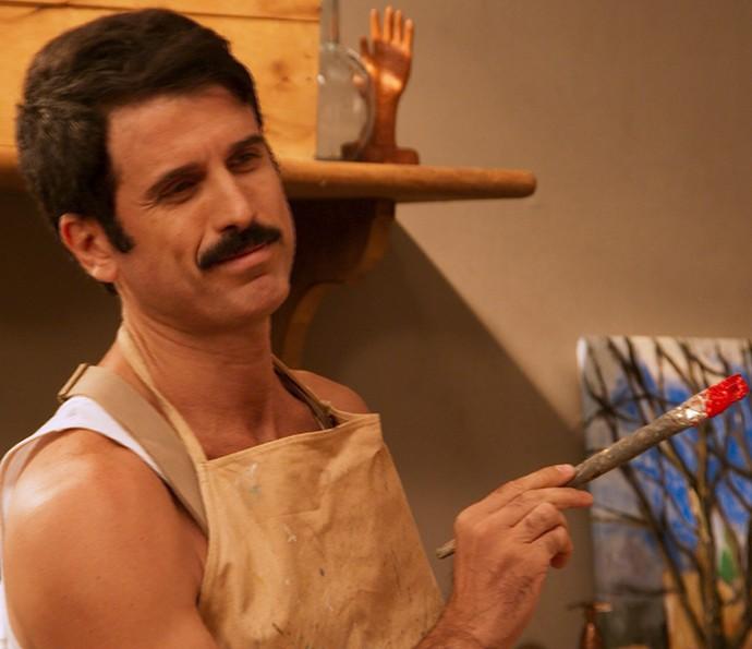 Ernesto quer expor quadro de Filó no Salão de Belas Artes (Foto: TV Globo)