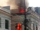 Incêndio atinge sobrado na Zona Norte do Rio