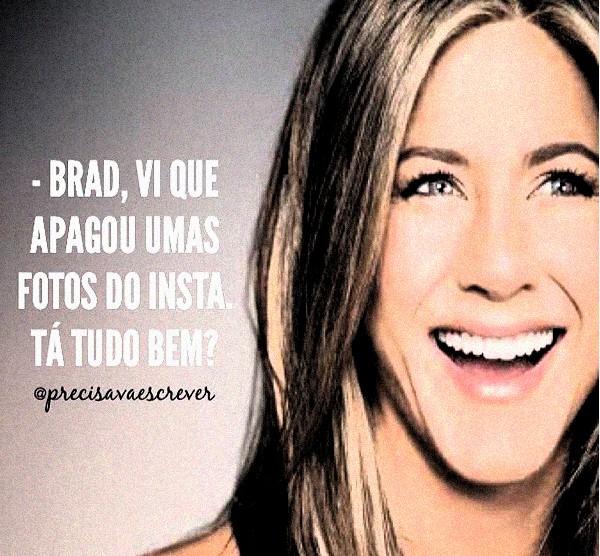 Jennifer Aniston, a famosa ex de Brad Pitt, logo foi acionada nos memes (Foto: Reprodução)