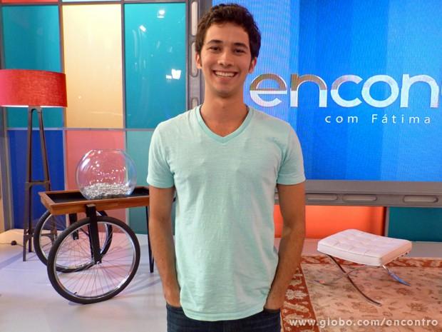 Gabriel Falcão (Foto: Encontro com Fátima Bernardes/TV Globo)
