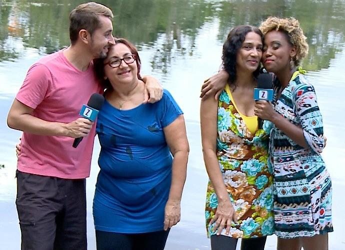 Mães apresentam programa ao lado de Moacyr Massulo e Jaque Santtos (Foto: Zappeando)