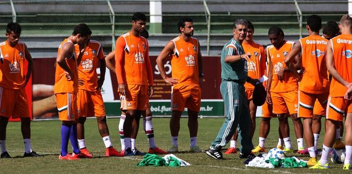 Drubscky e jogadores (Foto: Nelson Perez/ Fluminense oficial)