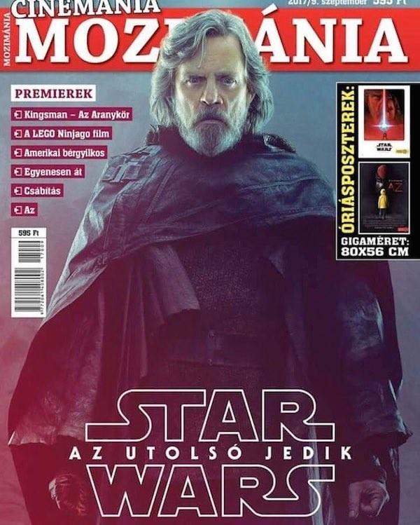 O herói Luke Skywalker na capa de uma revista húngara de cinema (Foto: Divulgação)