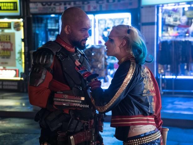 Will Smith e Margot Robbie em 'Esquadrão Suicida' (Foto: Divulgação)