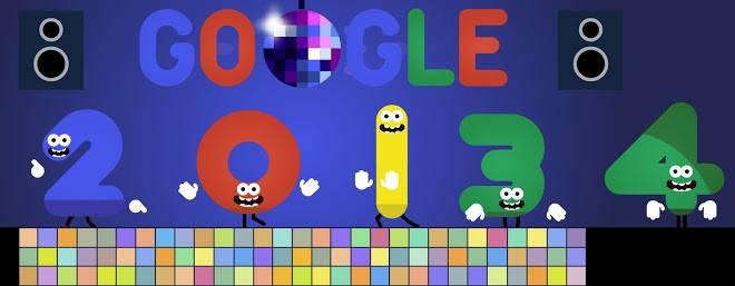 Doodle do Google para o Ano Novo de 2013 para 2014 (Foto: Reprodução/Google)