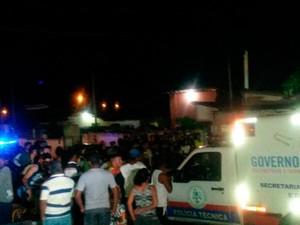 Crime aconteceu no conjunto Novo Horizonte, na zona Norte de Natal (Foto: Muriu Mesquita/Inter TV Cabugi)