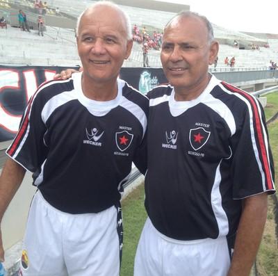 Magno e Nicácio, ex-jogadores do Botafogo-PB (Foto: Amauri Aquino/GloboEsporte.com/pb)