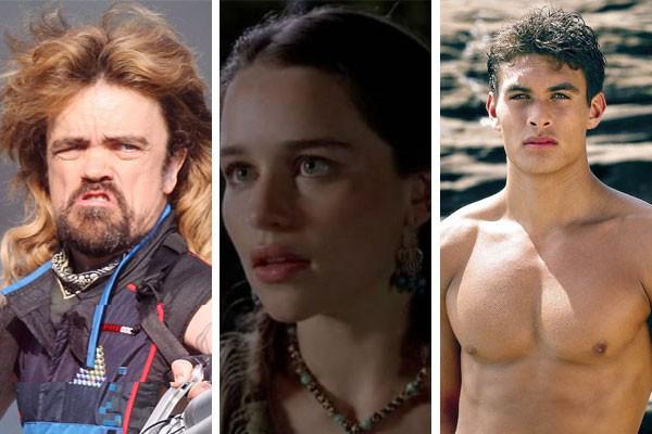 Peter Dinklage, Emilia Clarke e Jason Momoa já estrelaram papeis que eles gostariam de esconder pelo poder dos Sete Reinos (Foto: Divulgação)
