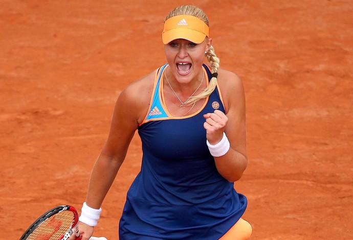 Kristina Mladenovic tênis em Roland Garros (Foto: Getty Images)