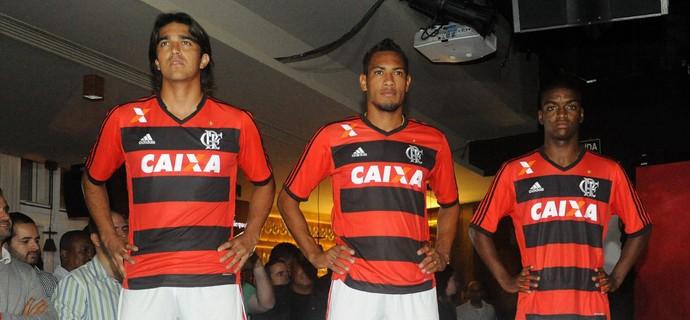 Marcelo Moreno, Hernane e Caio Rangel Flamengo (Foto: Alexandre Vidal/Fla Imagem)