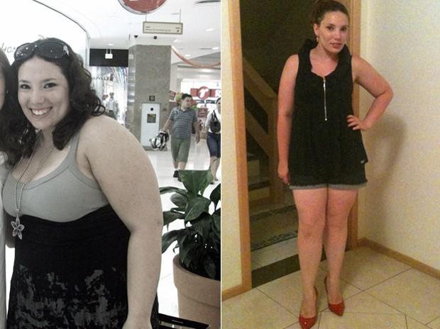 """""""Meu sono, minha energia, minha pele e meu cabelo melhoraram muito"""", diz Karla, com 26 kg a menos (Foto: Arquivo pessoal)"""