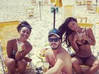 Sheron Menezzes e Yanna Lavigne curtem praia no Rio