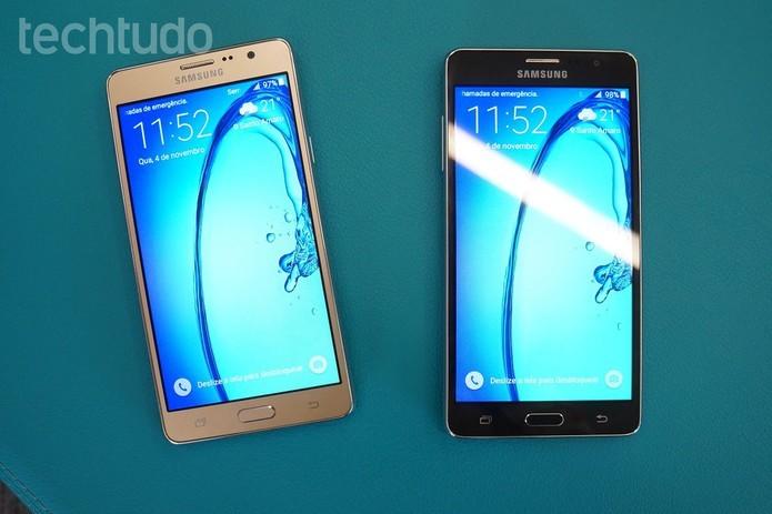 Galaxy On7 vem com processador quad-core e 8 GB de espaço interno (Foto: Thassius Veloso/TechTudo)