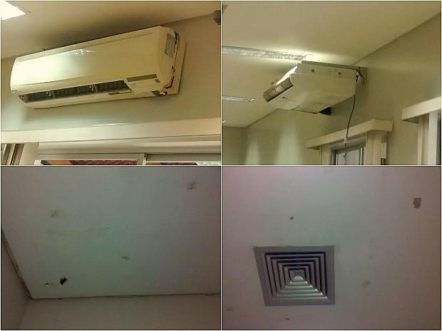 Paciente alega que aparelhos de ar-condicionado não funcionam e infiltração preocupa pacientes (Foto: Roneci dos Santos/Arquivo Pessoal)