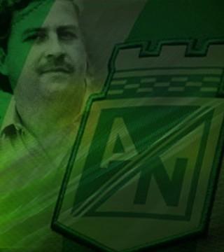 Montagem Atlético Nacional e Pablo Escobar (Foto: Editoria de arte)