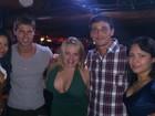 Fael e Jonas curtem noite com ex-BBBs Paulinha e Ariadna