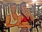 Zezé Di Camargo e Graciele Lacerda mostram os músculos na academia