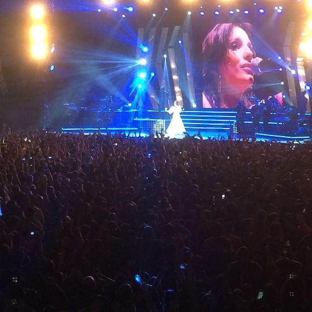 Ivete Sangalo no palco (Foto: Reprodução/Instagram)