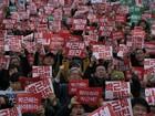 Protesto em Seul pede a renúncia de presidente envolvida em escândalo