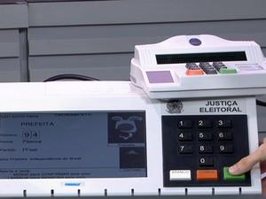 Urna eleitoral  (Foto: Reprodução GloboNews)