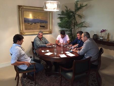 Rubens Lopes reunião Maracanã (Foto: Cahê Mota)