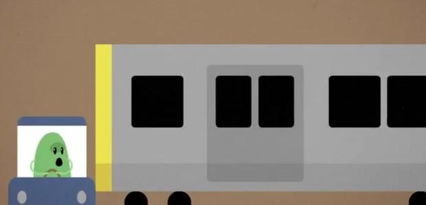 Ao final, são mostrados comportamentos perigosos perto de trens que precisam ser evitados (Foto: Reprodução)