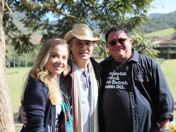 Angélica reuniu os amigos muito bem humorados na gravação de hoje (Foto: TV Globo/Estrelas)