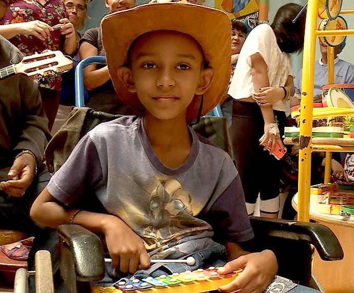 Guilherme demonstra sua força e fé na vida durante tratamento (Foto: Arquivo Pessoal)