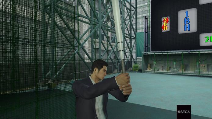 Baseball de brindes em Yakuza 0 (Foto: Reprodução/Felipe Vinha)