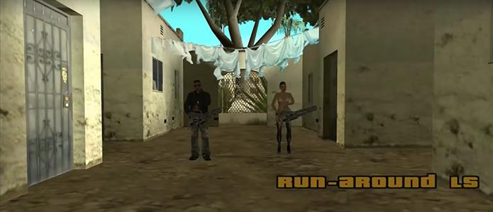 Escolha os personagens de GTA San Andreas (Foto: Reprodução/YouTube)